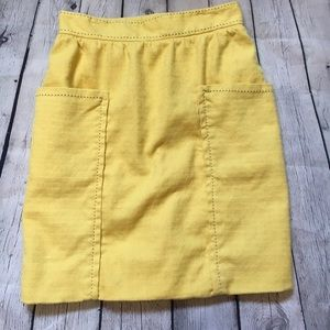 Cartonnier Anthropologie sunny yellow skirt size 6
